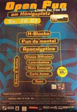 Poster OBEN OHNE 1998