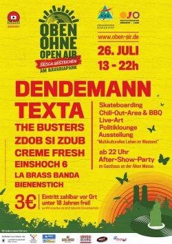 Plakat OBEN OHNE 2008