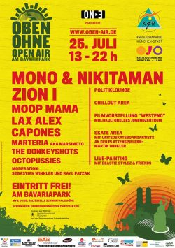 Plakat OBEN OHNE 2009