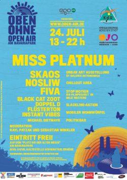Plakat OBEN OHNE 2010