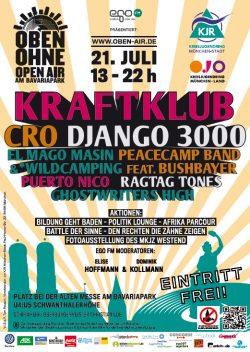 Plakat OBEN OHNE 2012