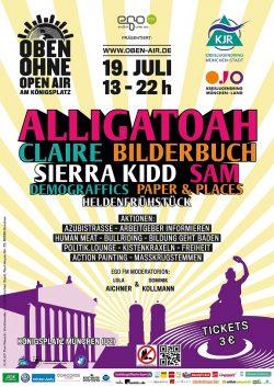 Plakat OBEN OHNE 2014
