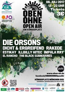 Plakat OBEN OHNE 2017